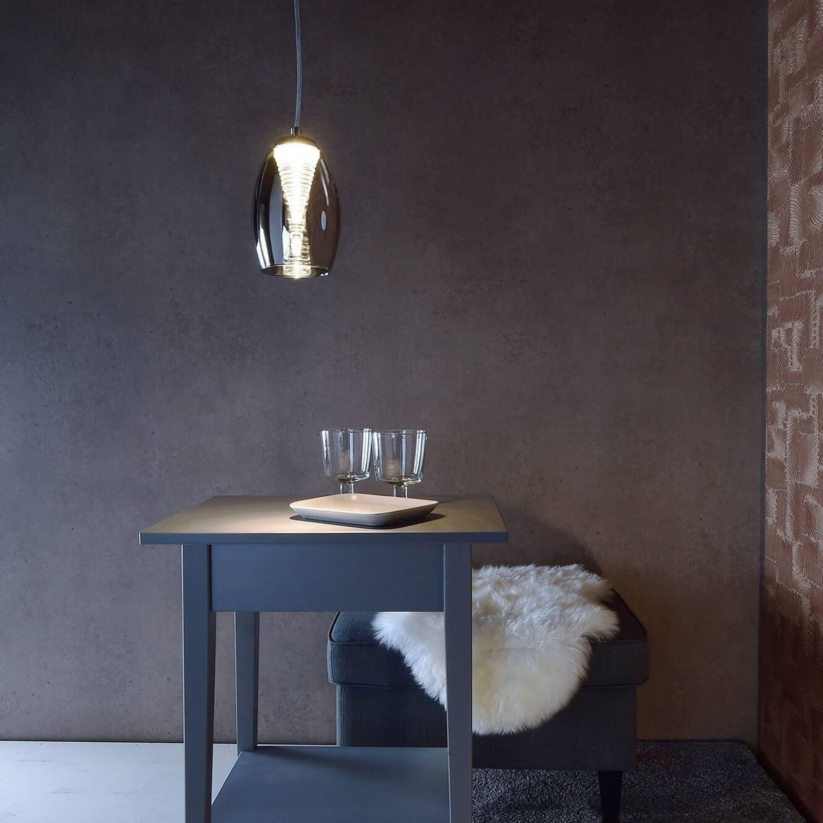 Suspension LED en verre Electra à 1 lampe
