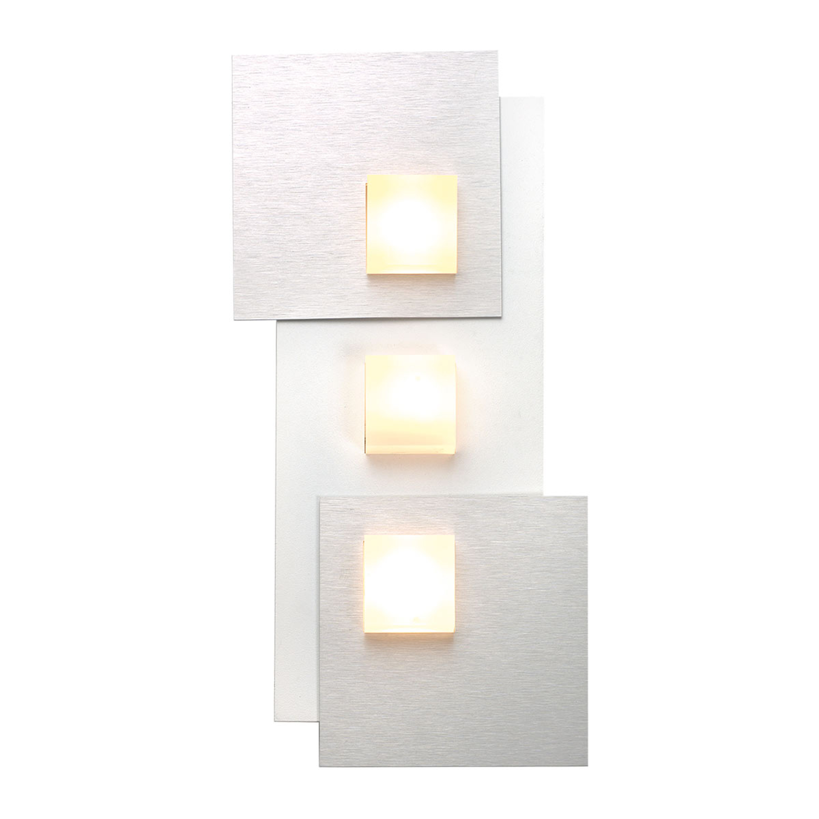 Bopp Pixel 2.0 LED-Deckenleuchte 3-flammig alu