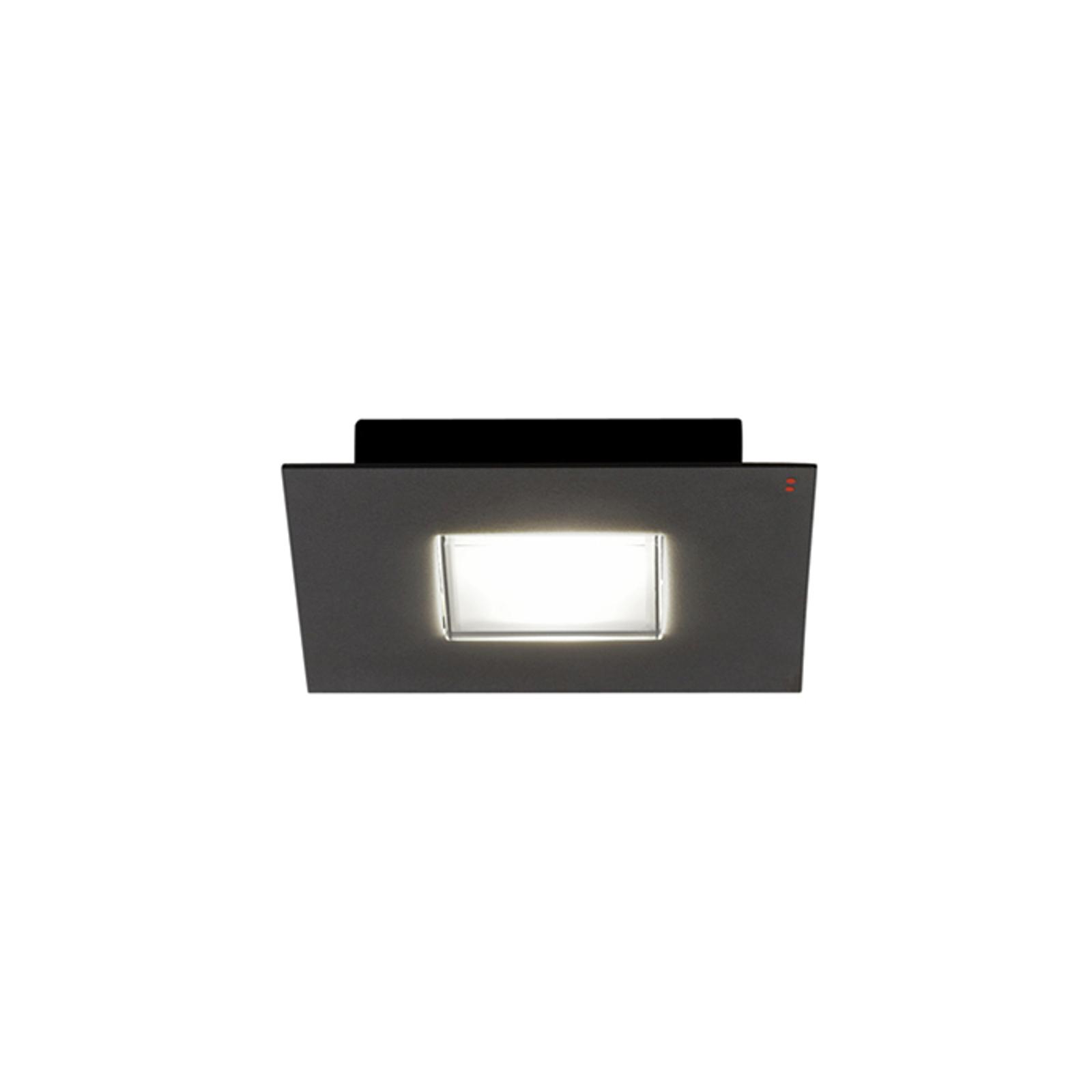 Fabbian Quarter čierne stropné LED svetlo 1-pl.