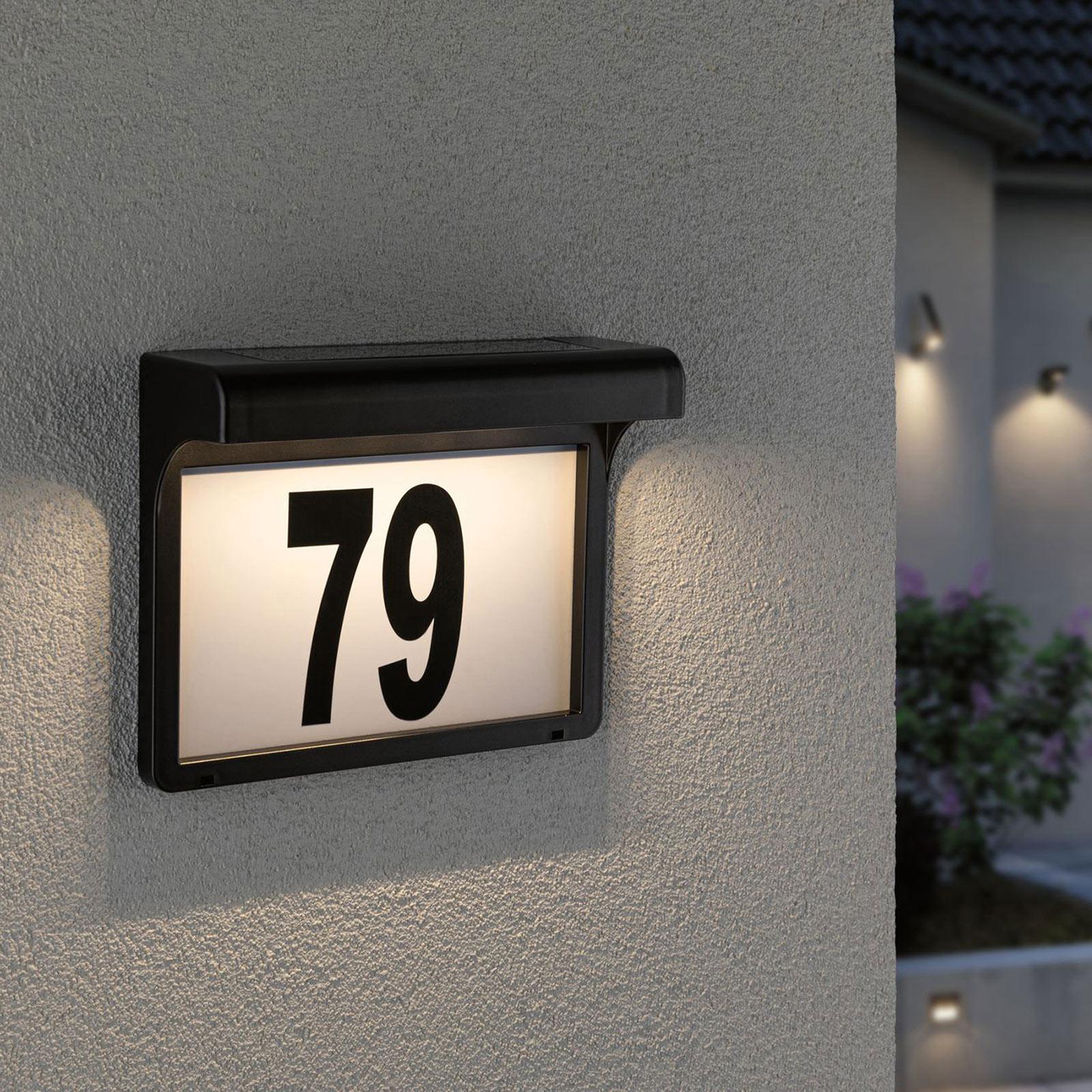 Paulmann Dayton solcelledrevet LED-husnummerlampe
