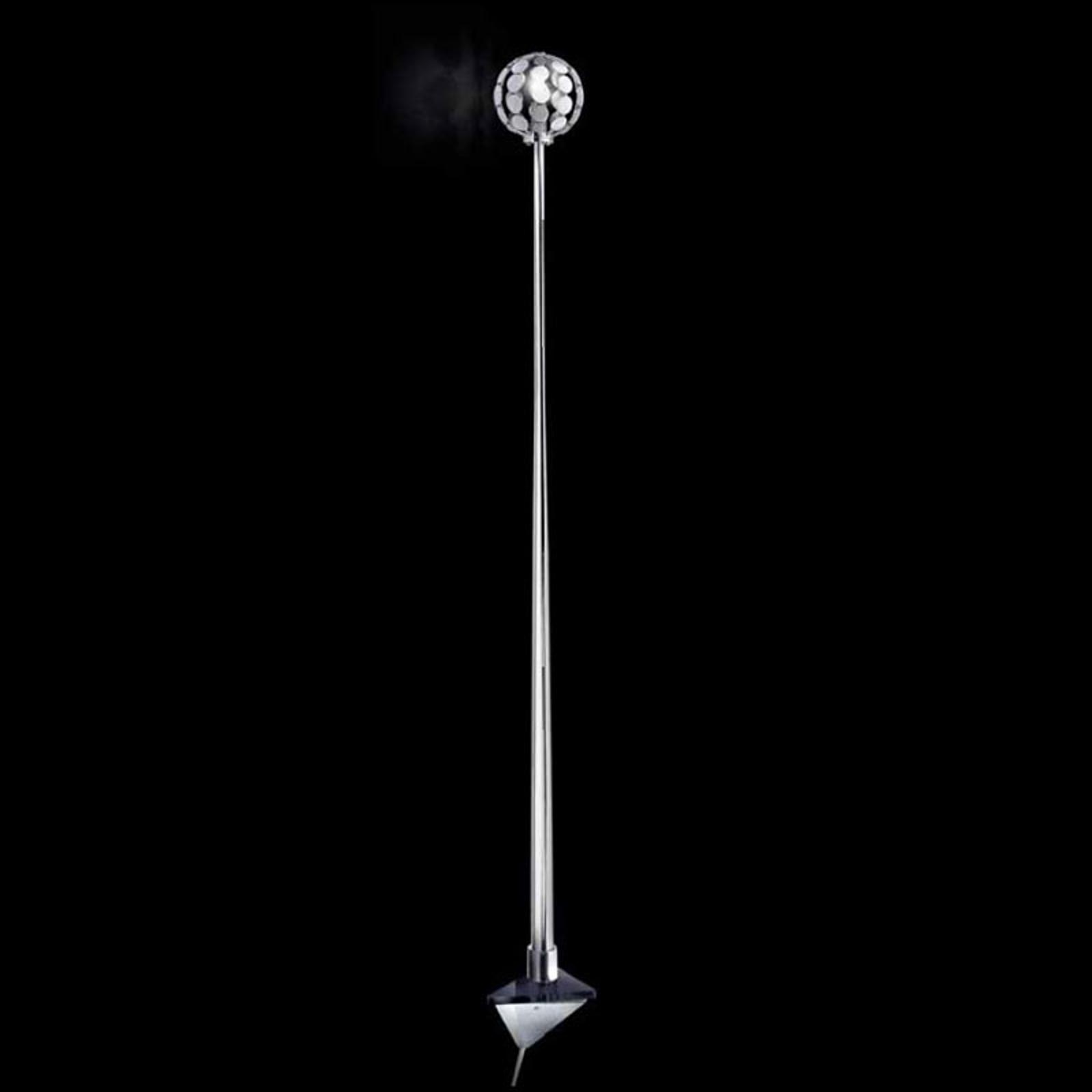 Wandleuchte Sfera, Halterung schwarz, 151 cm