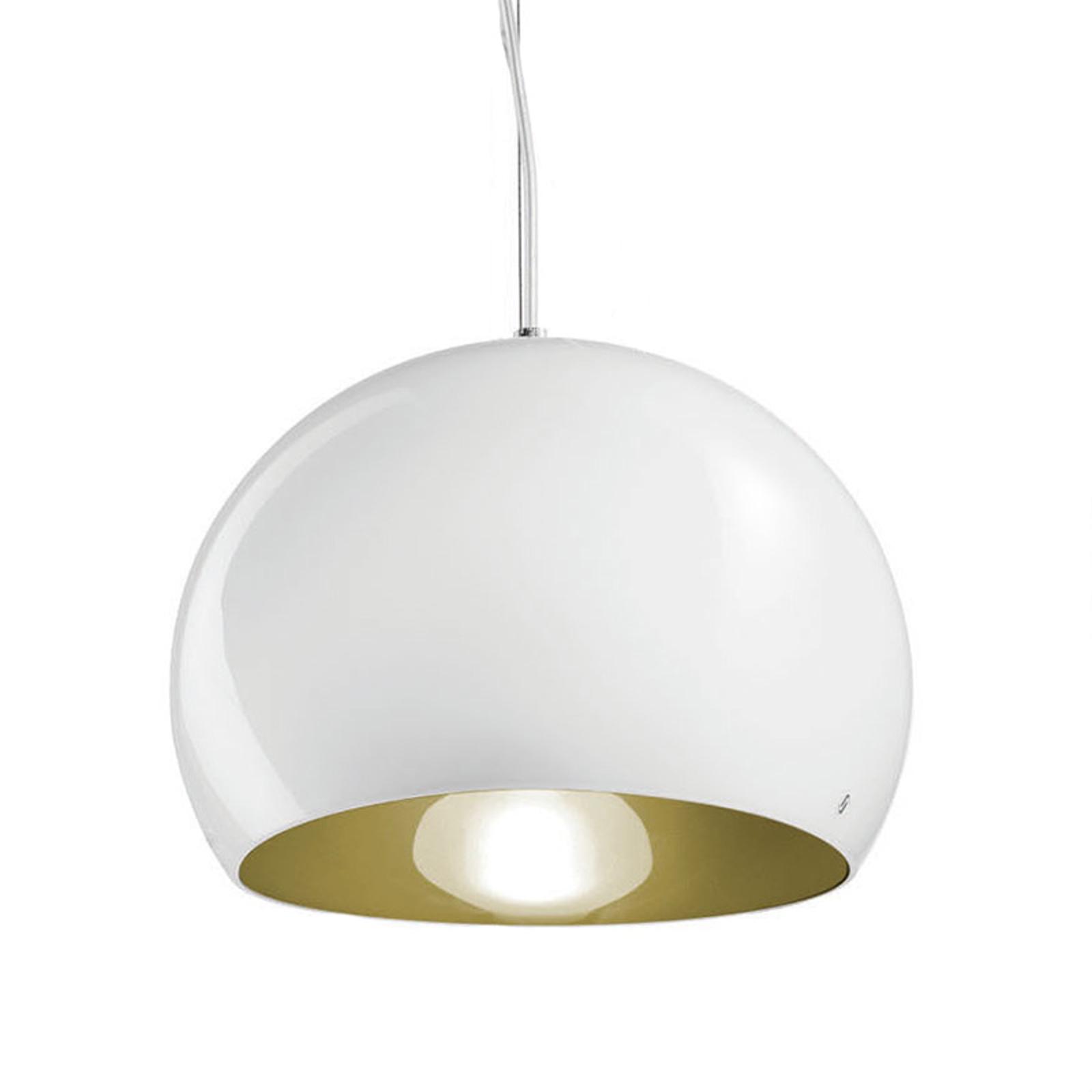 Suspension Surface Ø 27cm, E27 blanc/vieux vert