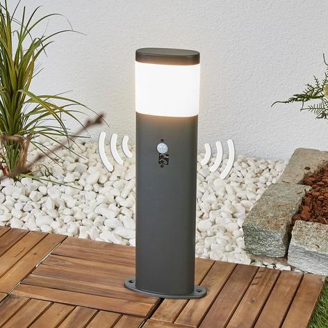 Lampione a LED Marius con sensore, grigio scuro
