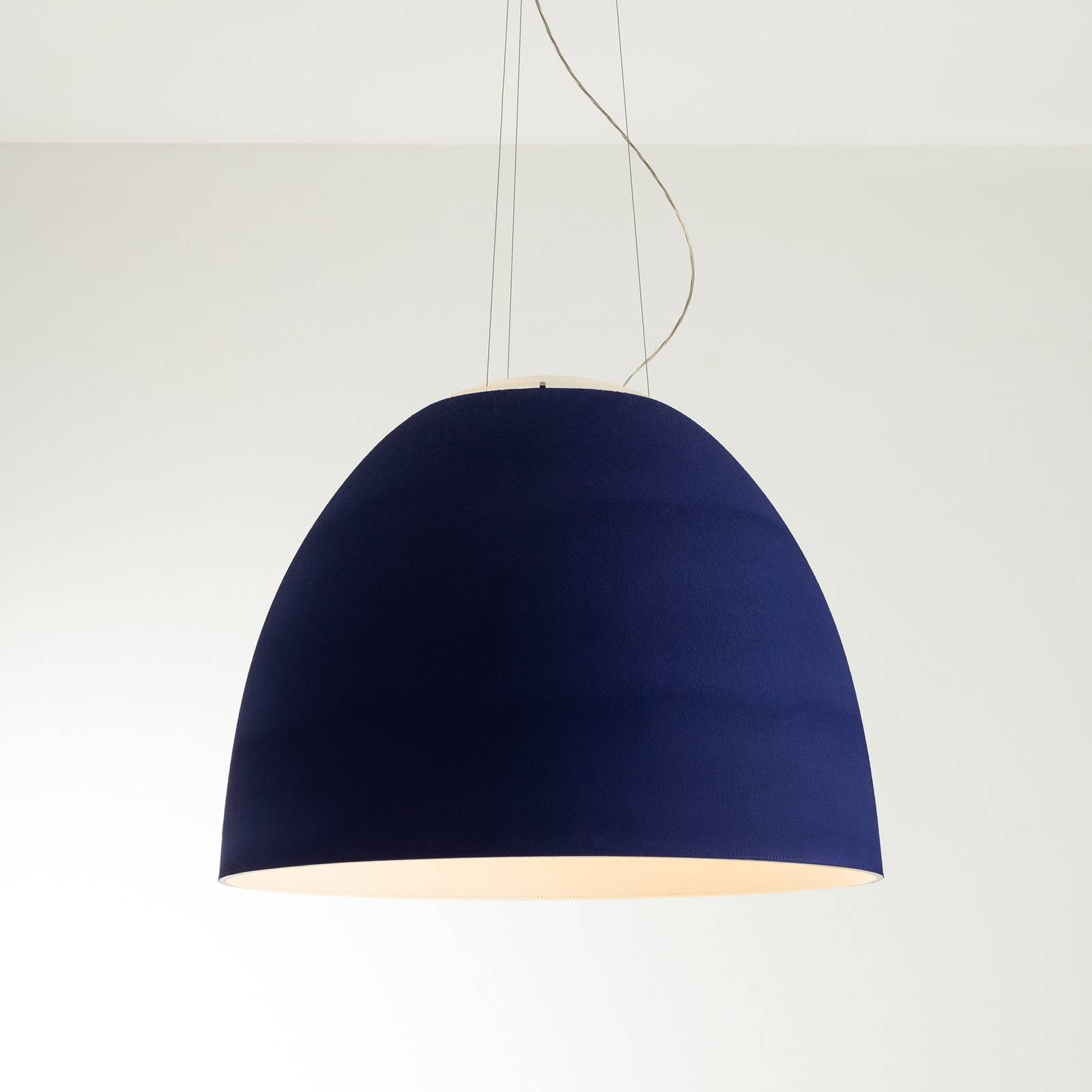 Artemide Nur Acoustic LED-Hängeleuchte, blau