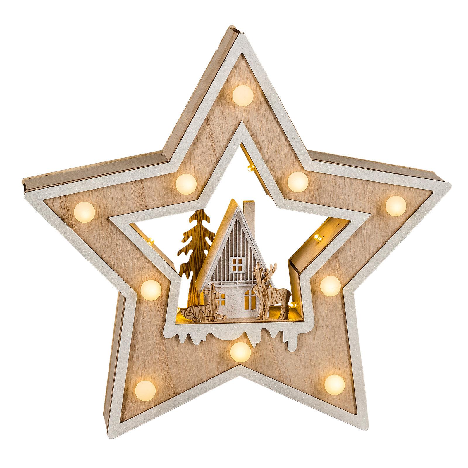 Saico Vianočná LED hviezda Country Style