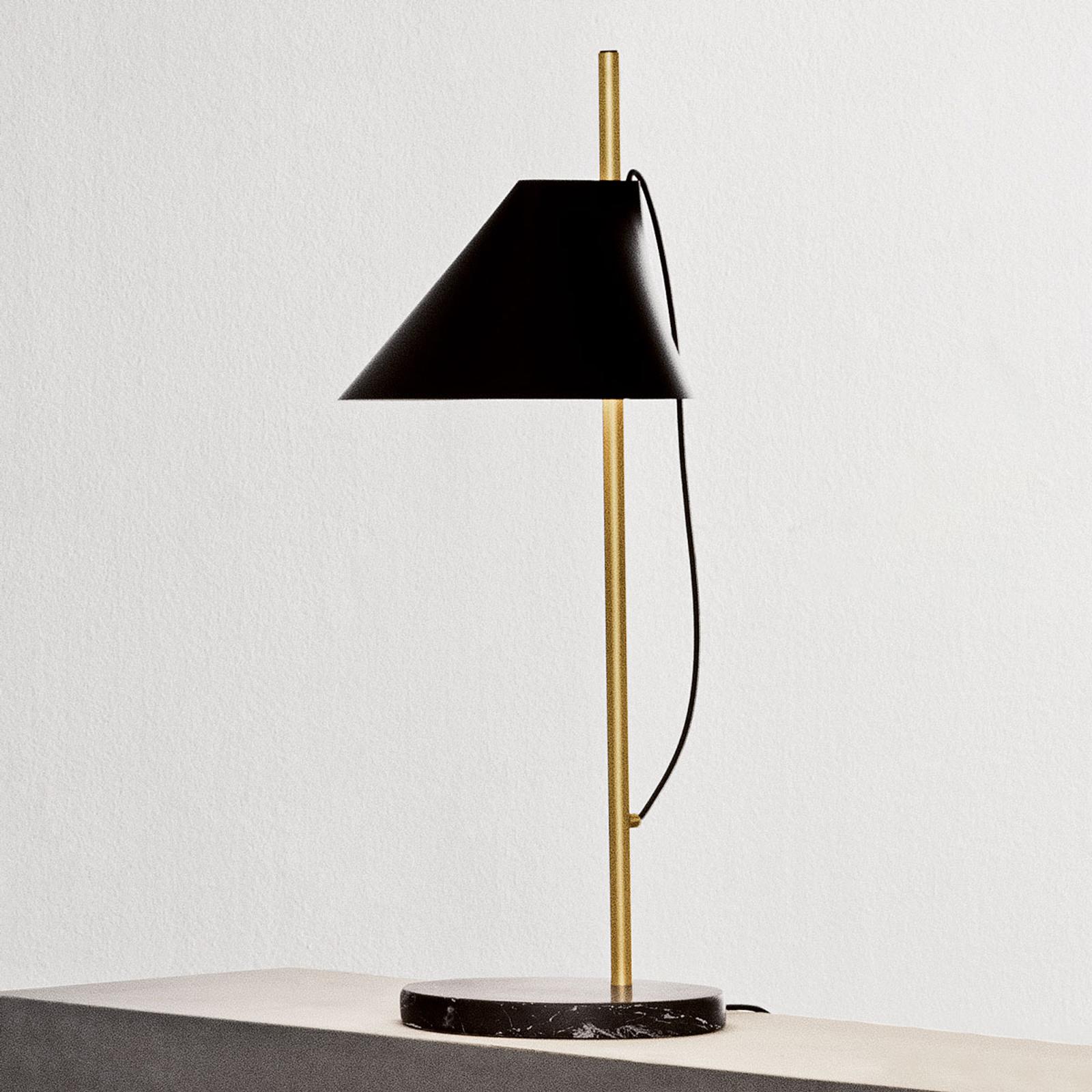 Louis Poulsen Marmor-Tischlampe Yuh Brass, schwarz