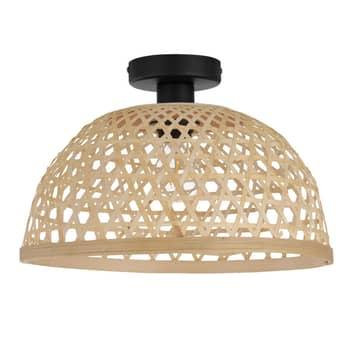Taklampa Claverdon med vävd lampskärm natur
