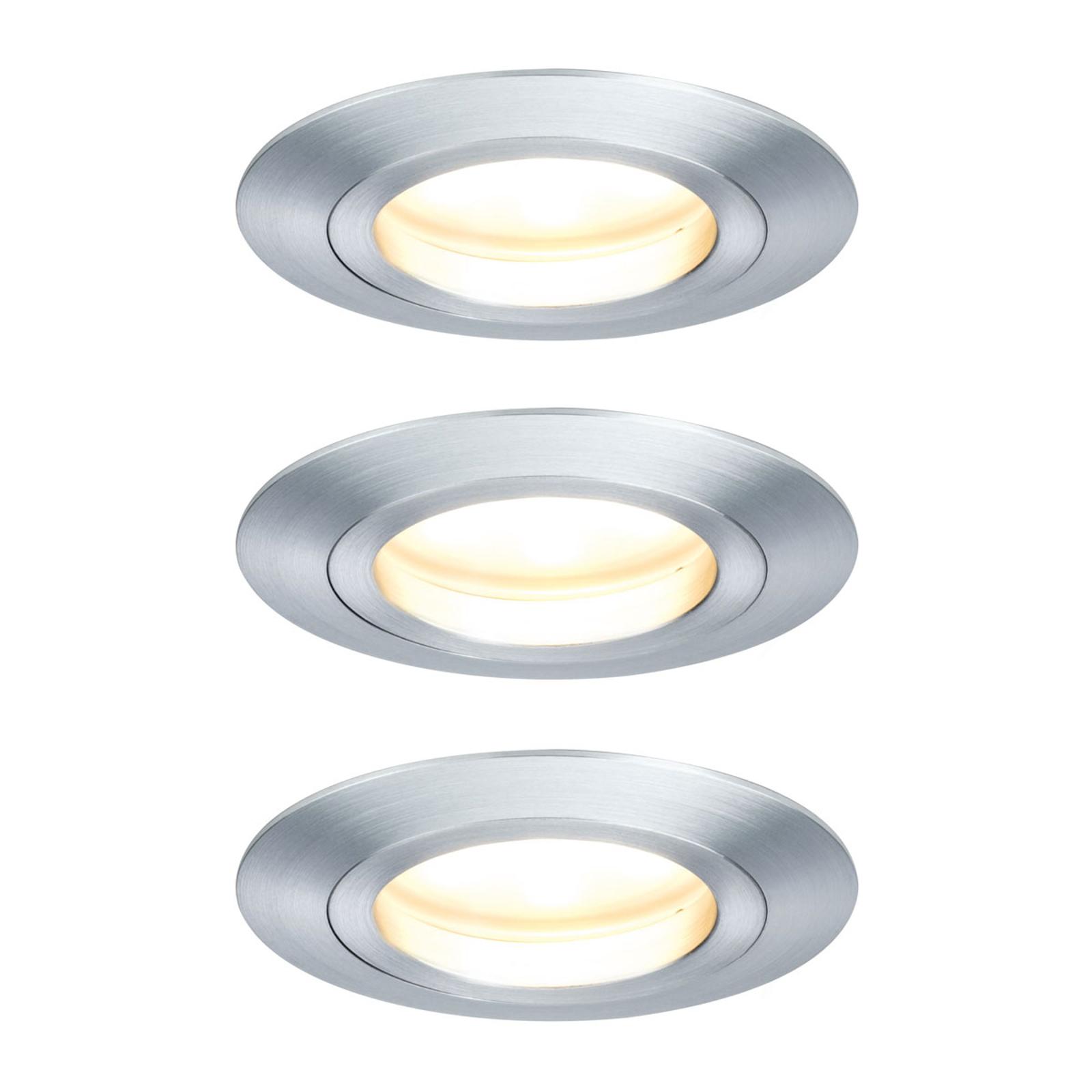 Paulmann 3x LED bodové svítidlo Coin, 7W, hliník
