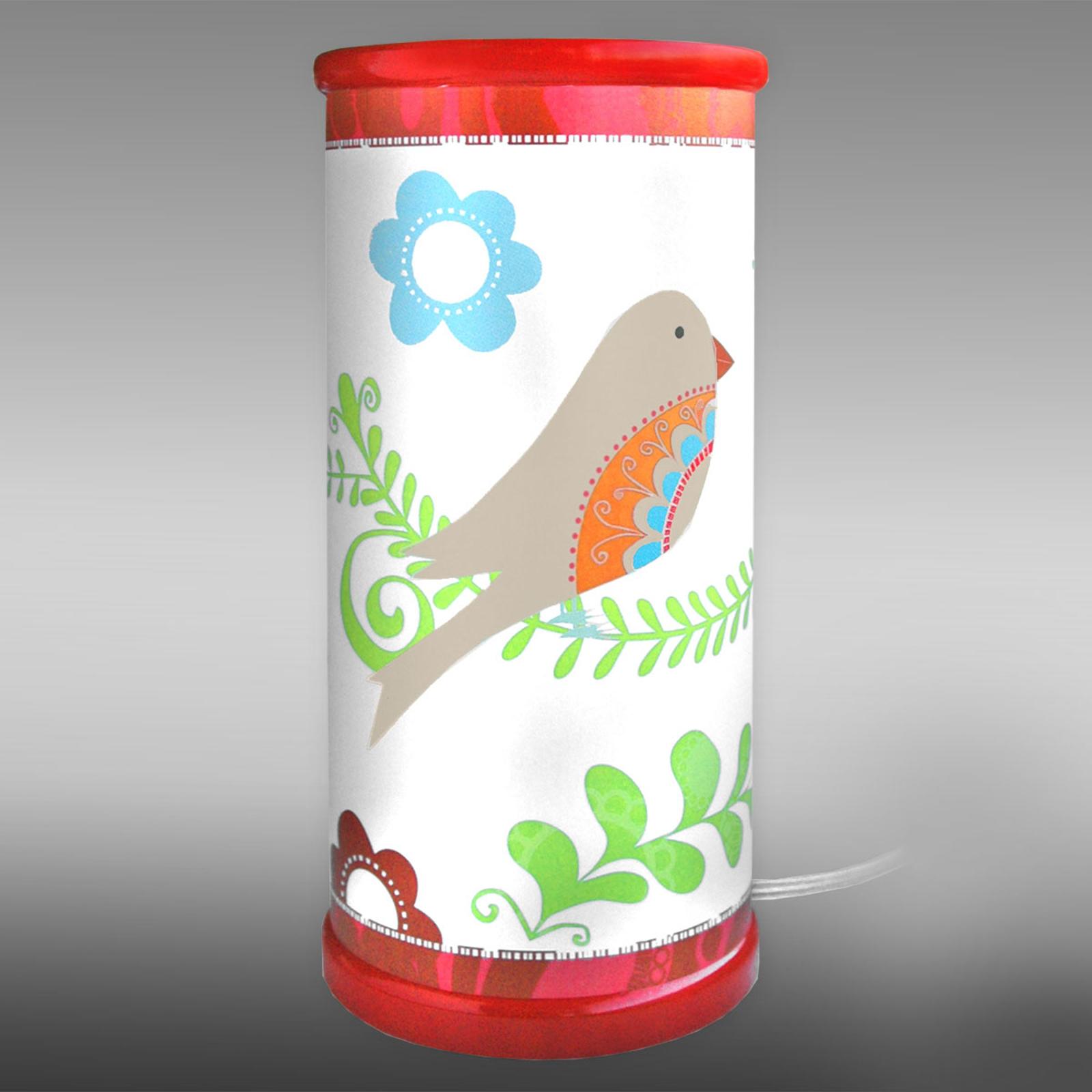 LED-Kindertischleuchte Paradiesvogel