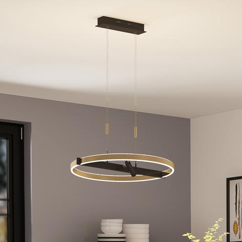 Lucande Matwei -LED-riippuvalo, pyöreä, messinki