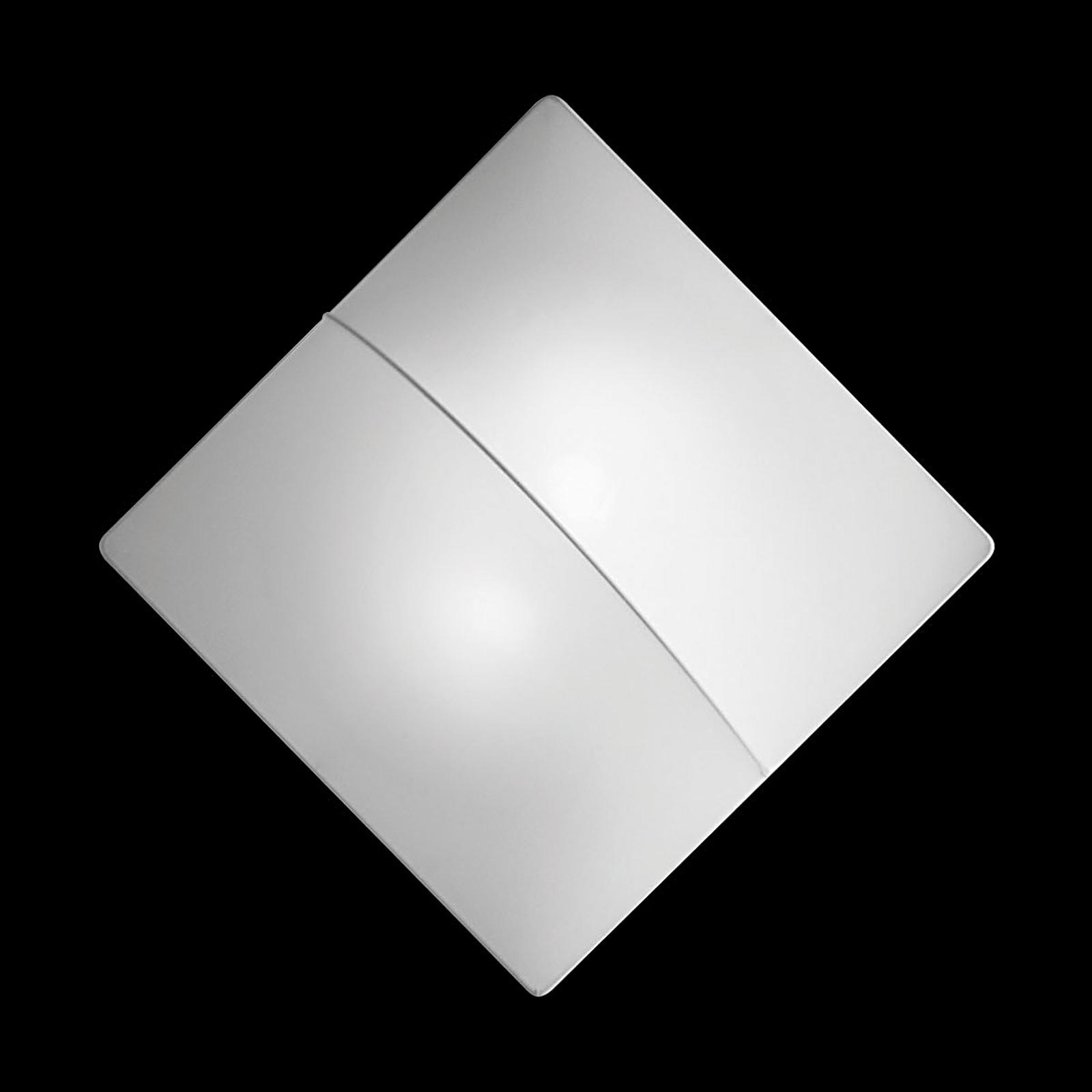 Applique Nelly S quadrata con stoffa, 60cm
