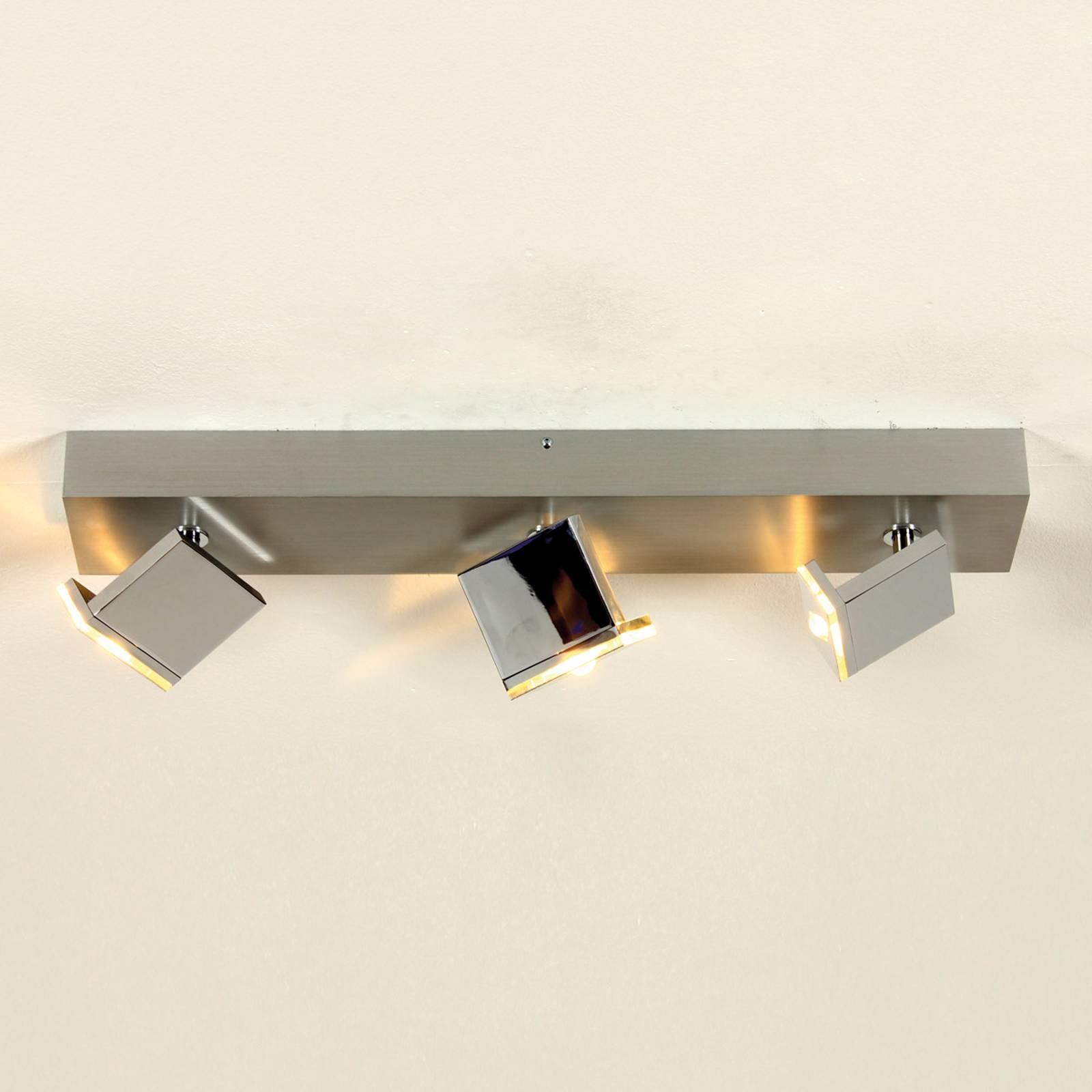 Drielamps LED-plafondlamp Elle, dimbaar