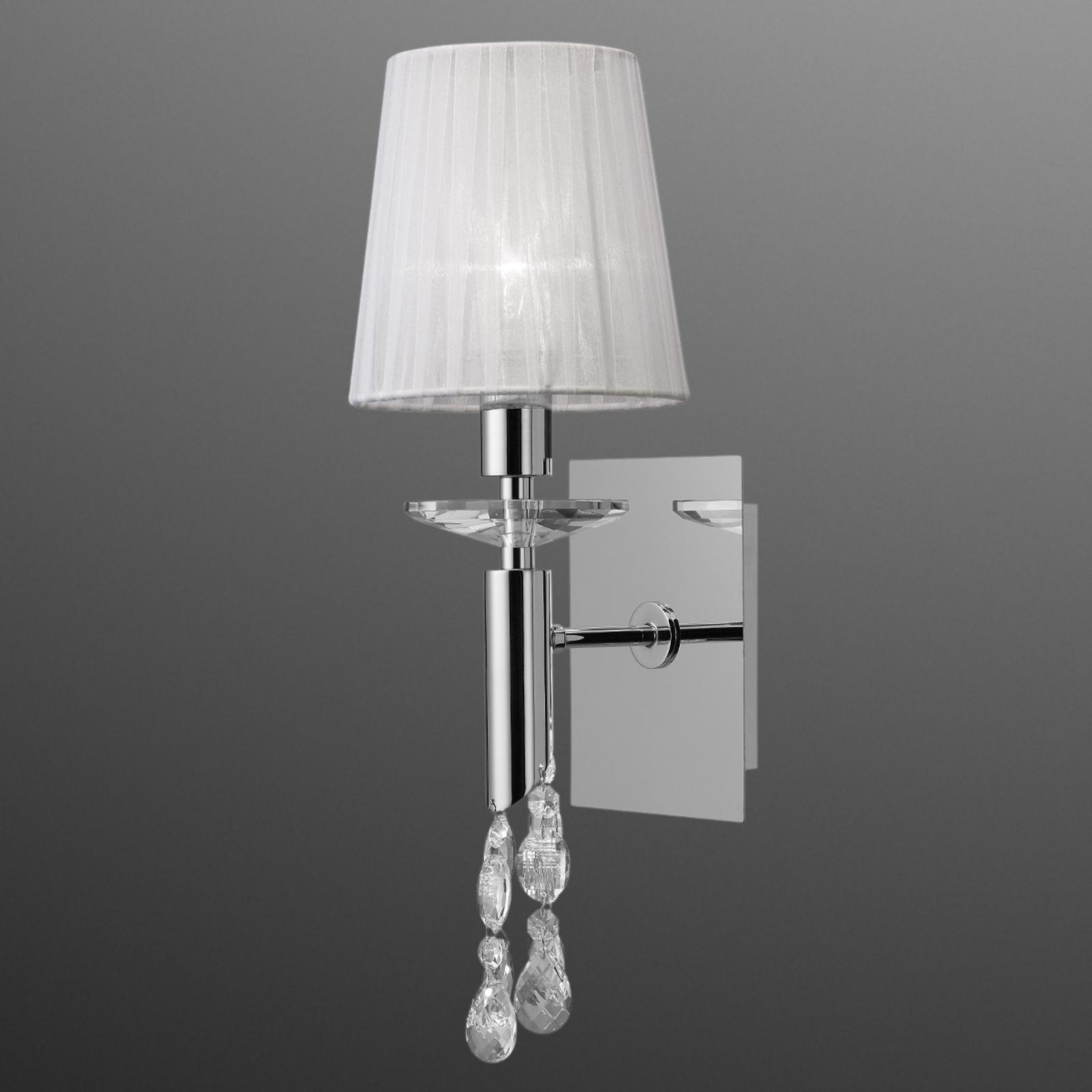 Wall light Lilja with a silk lampshade_6542287_1