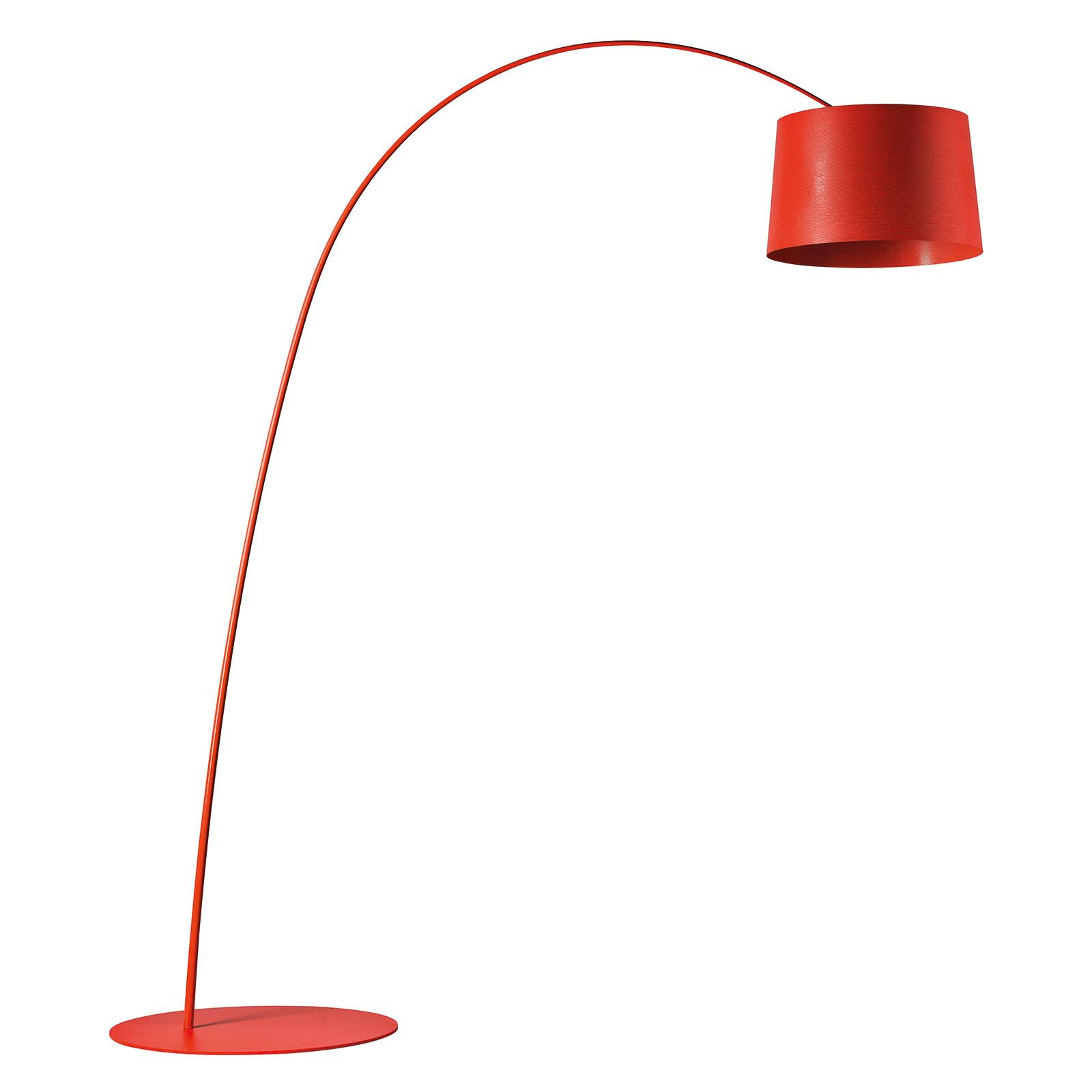 Foscarini Twiggy lampadaire arqué dimmable pourpre