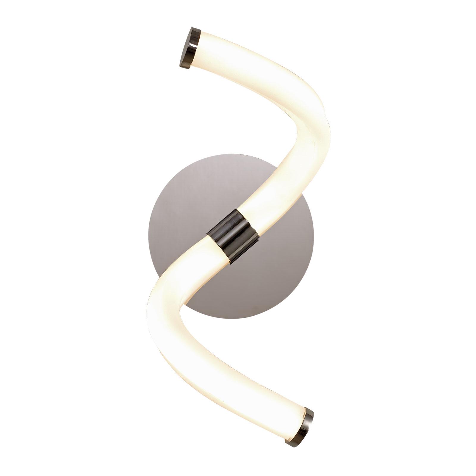 LED wandlamp Nur Line in chroom-wit