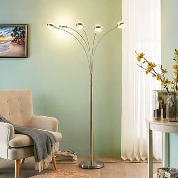 5-flammige LED-Stehlampe Catriona mit Dimmer