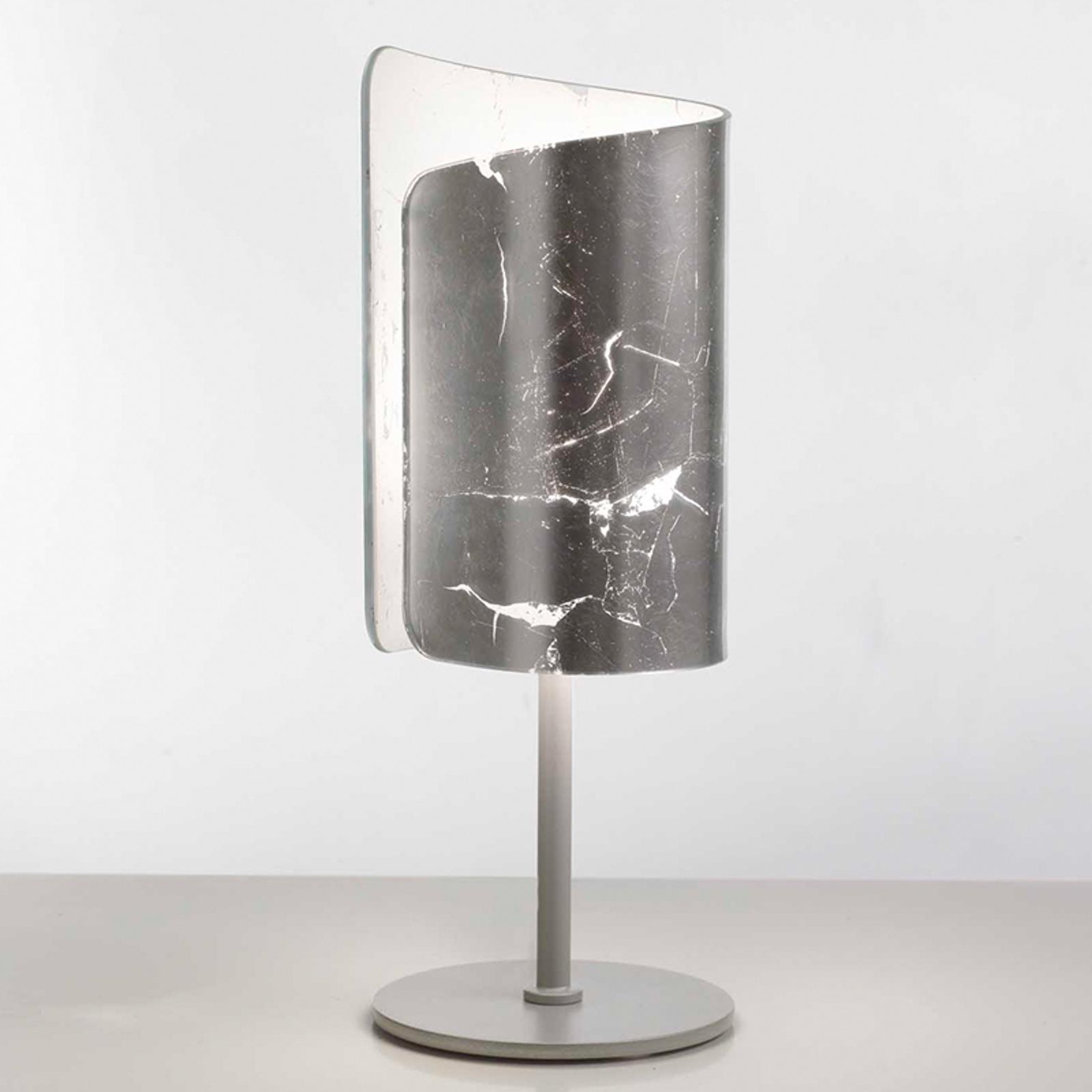 Leuke tafellamp Papiro, zilverkleurig