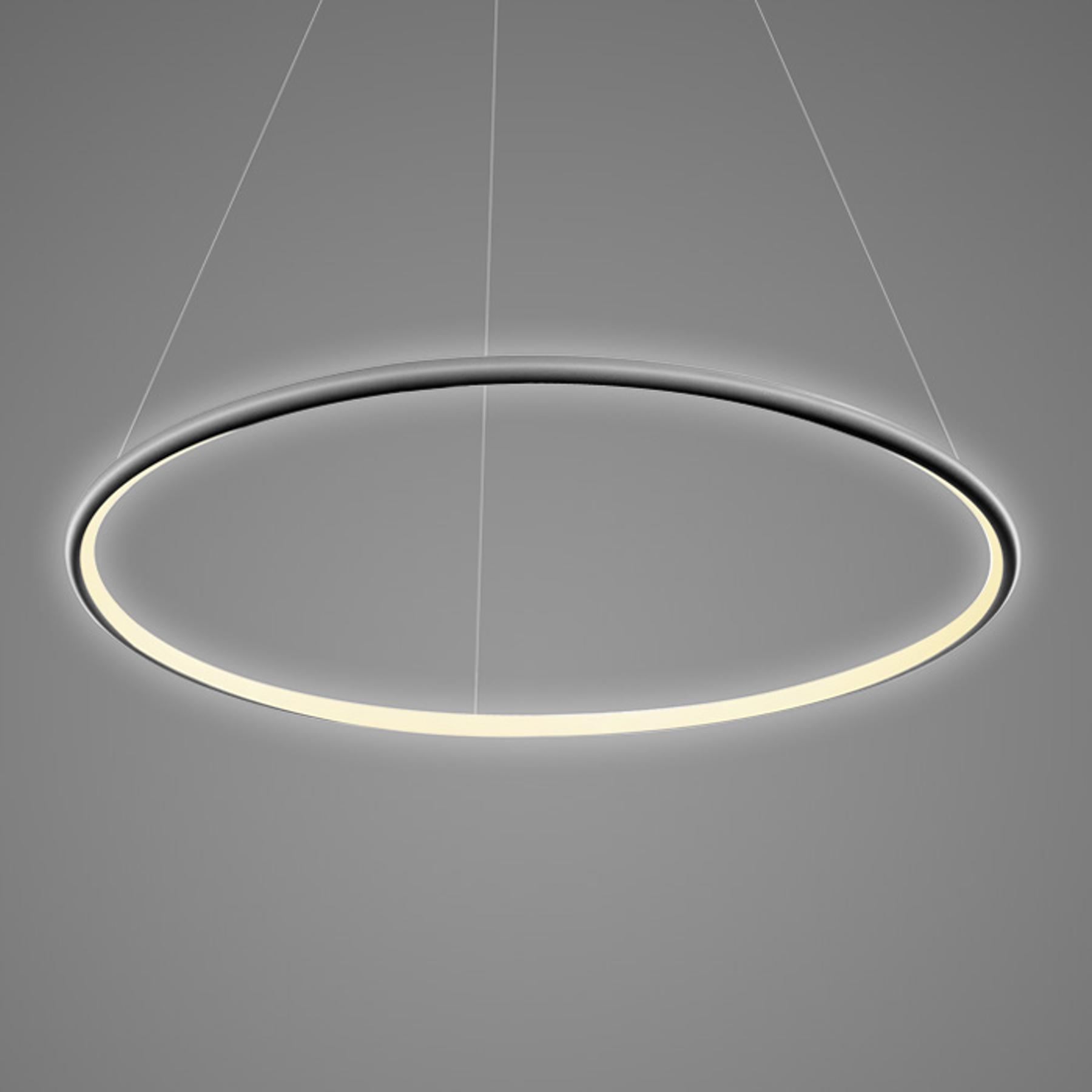 Lampa wisząca LA073 1-pkt. Ø 80cm czarna 3000K