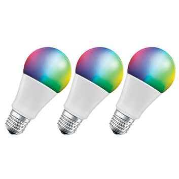 LEDVANCE SMART+ WiFi E27 9W Classic RGBW 3er