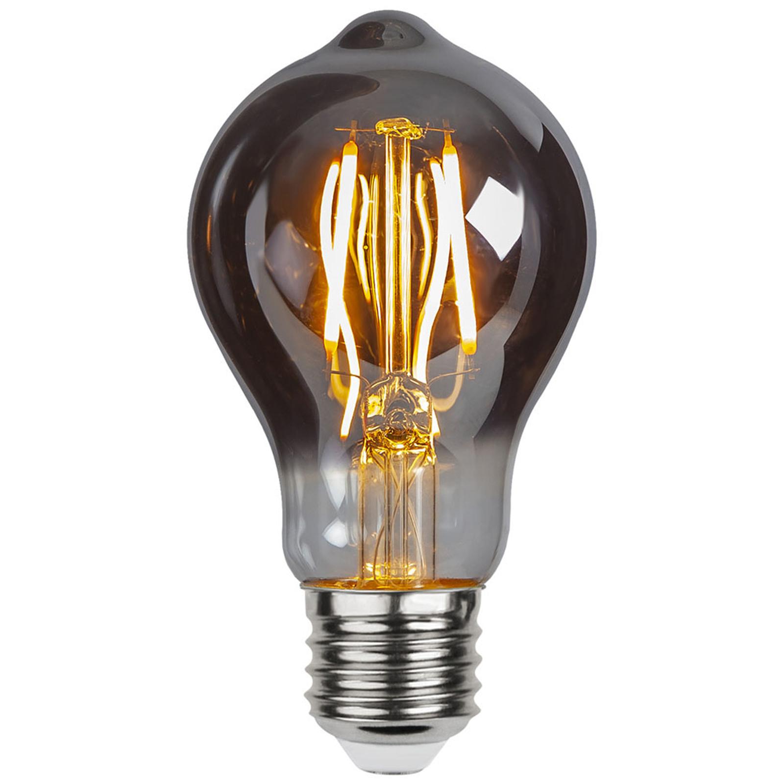 Edison Plain Smoke E27 A60 LED-pære, 2 W, 2.100 K