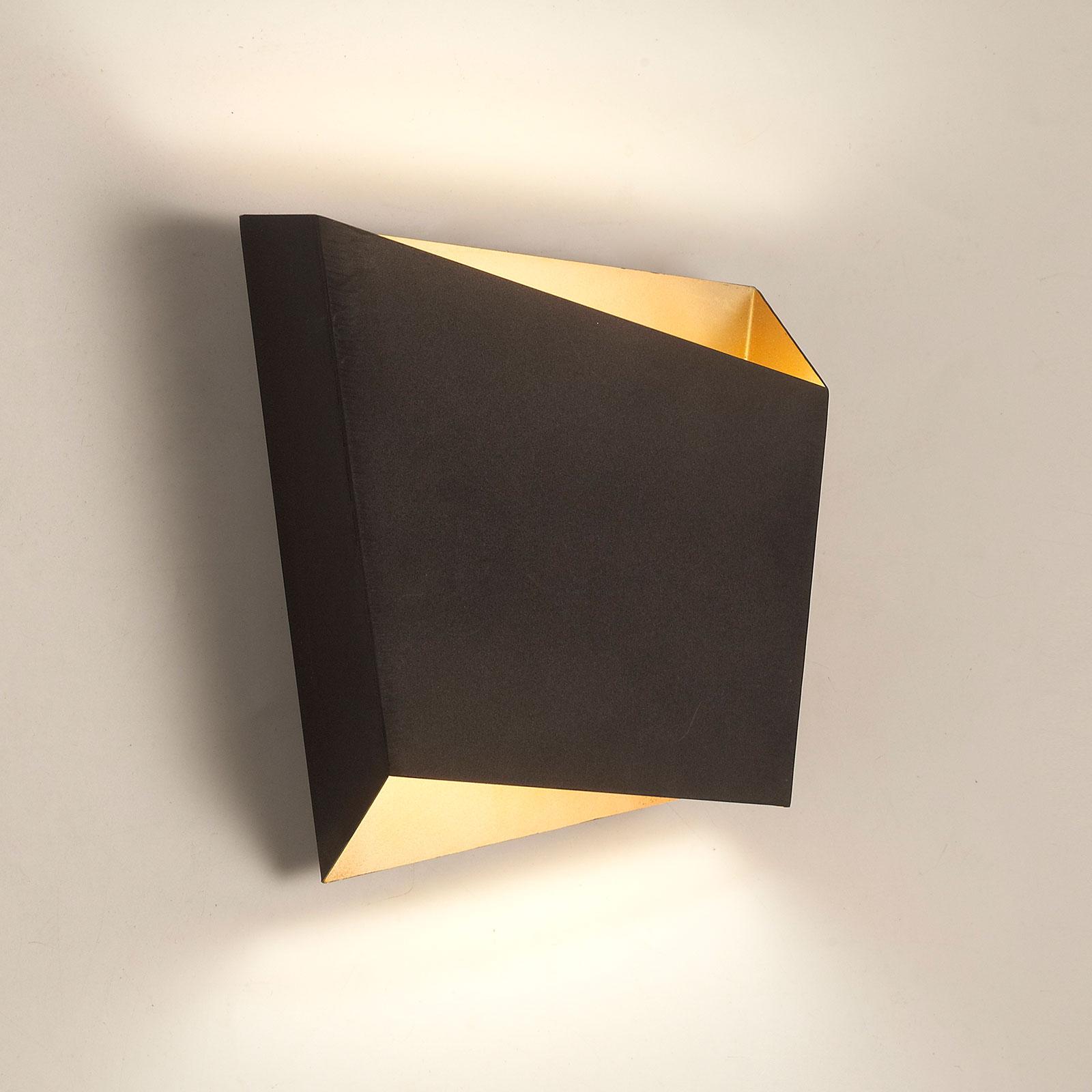 Applique Asimetric en acier, noire