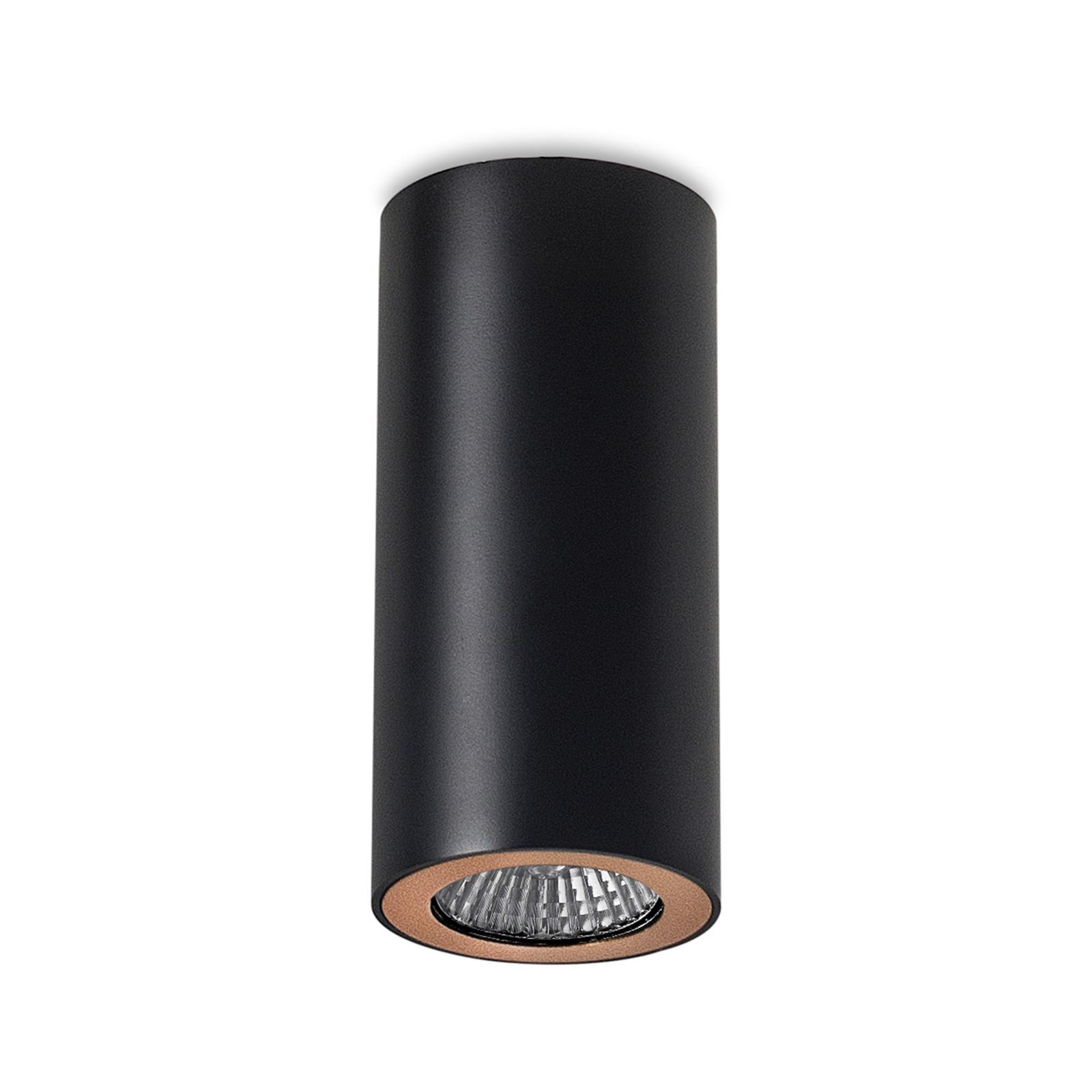 LEDS-C4 Pipe takspot 1 lyskilde svart-gull