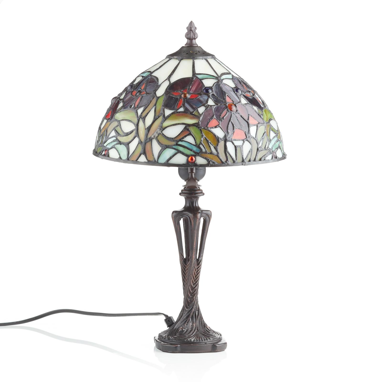 Tafellamp ELINE in klassieke Tiffany-stijl 40 cm