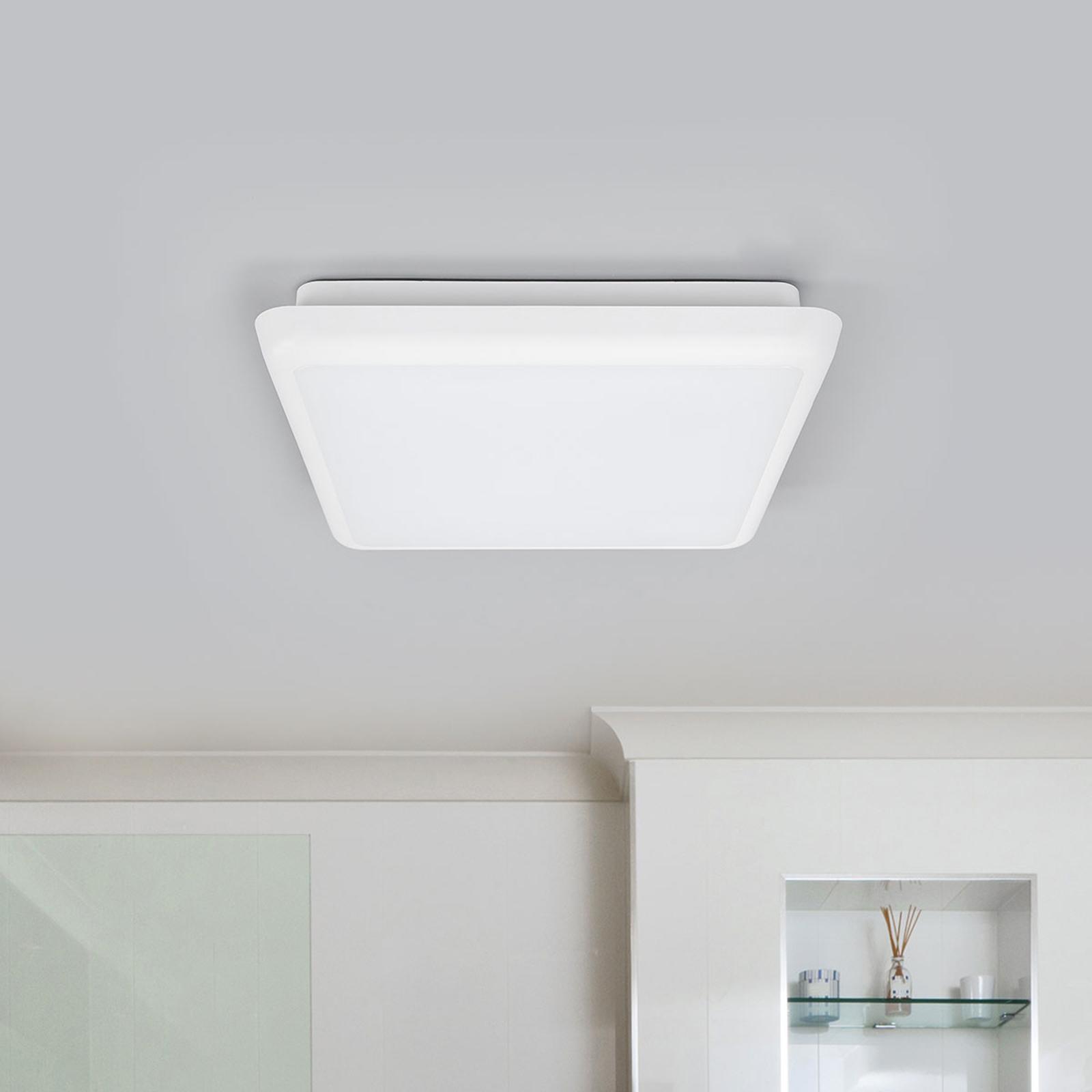 Augustin plafoniera LED quadrata 25 cm