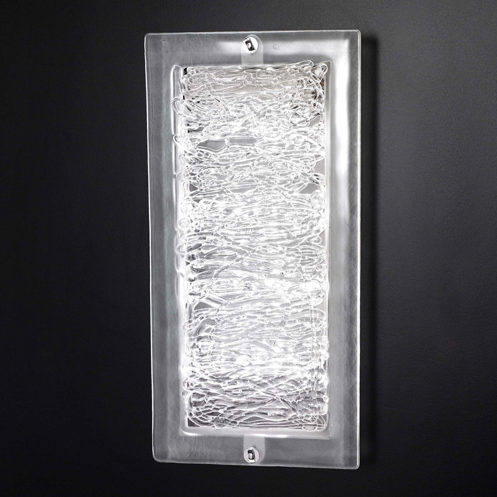 Glass-vegglampe Mary 20x40 cm