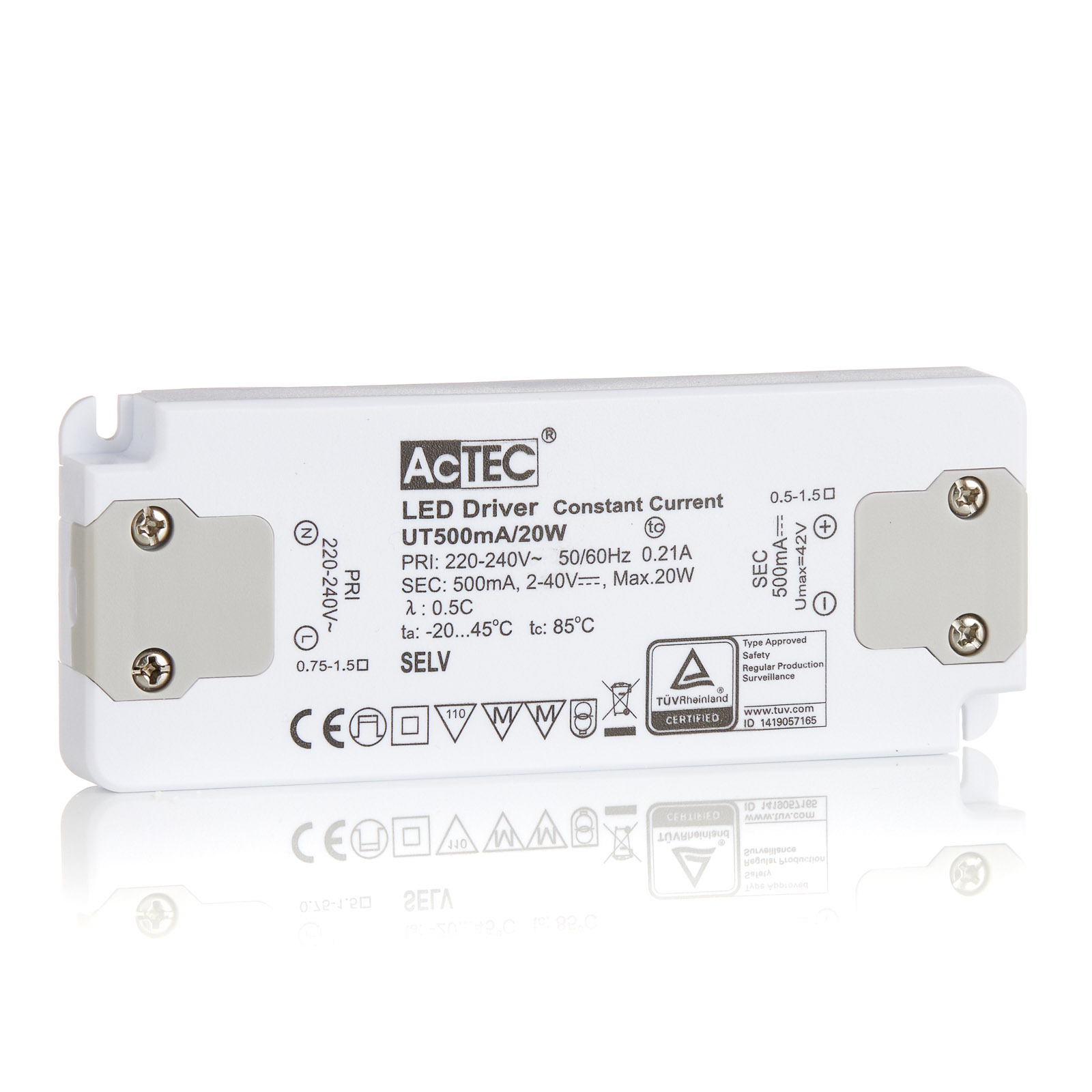 AcTEC Slim LED-driver CC 500mA 20 W