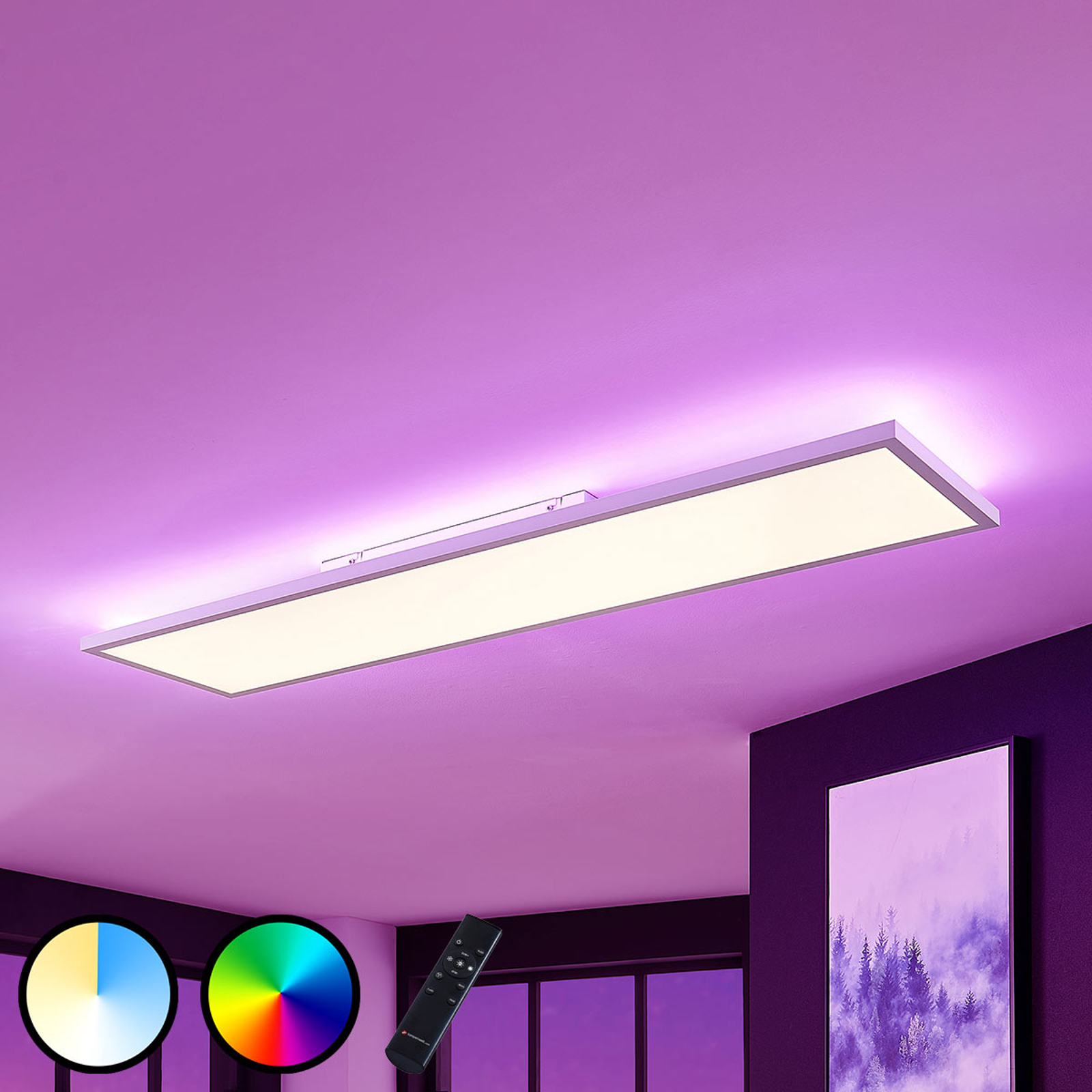 LED-Panel Brenda CCT Fernbedienung 29,5 x 119,5cm