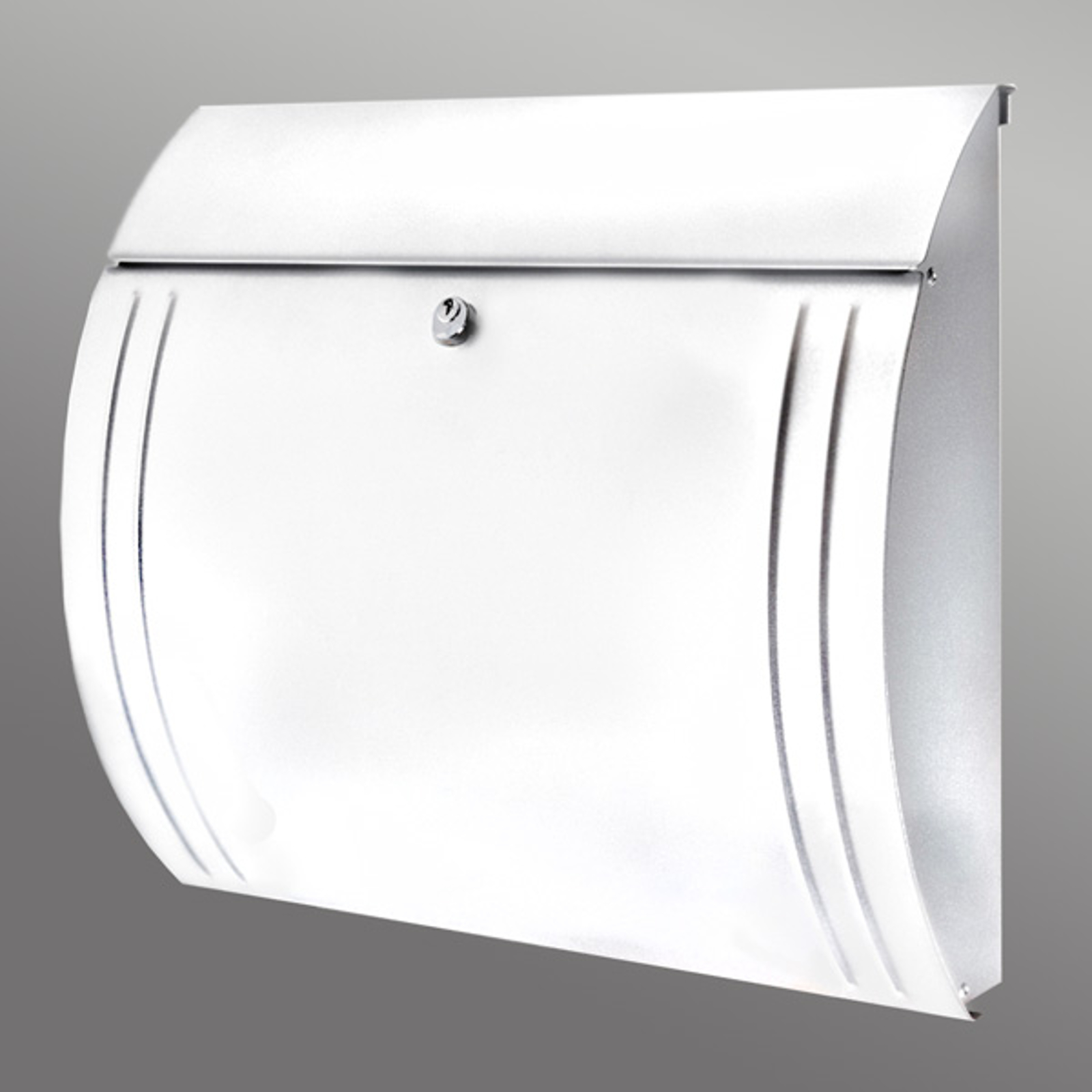 MODENA postkasse i stål med en smuk form, hvid