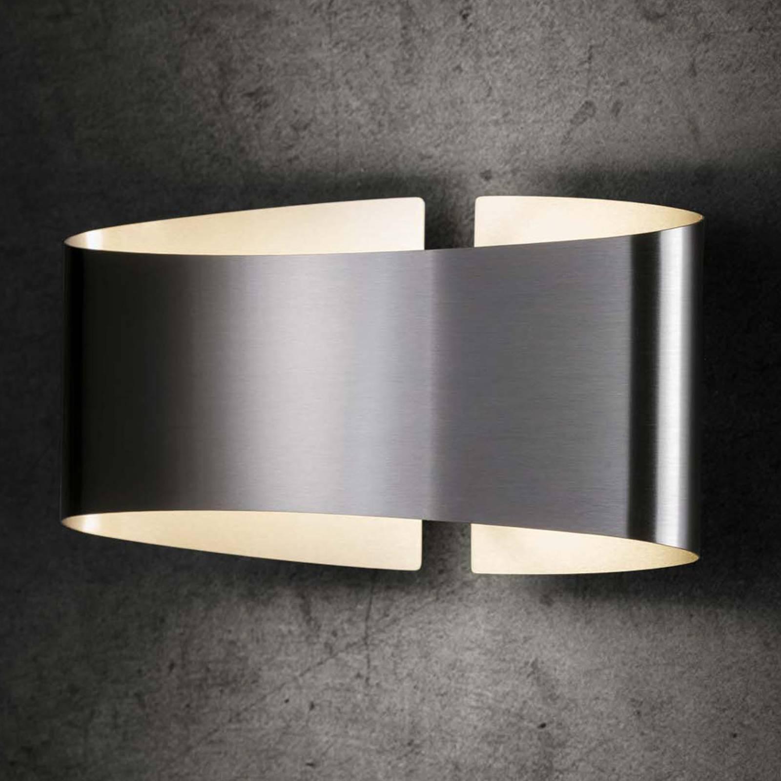 Holtkötter Voilà LED wandlamp, roestvrij staal