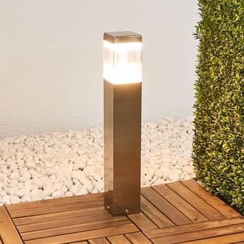 Sockellampe Baily mit LEDs, Edelstahl