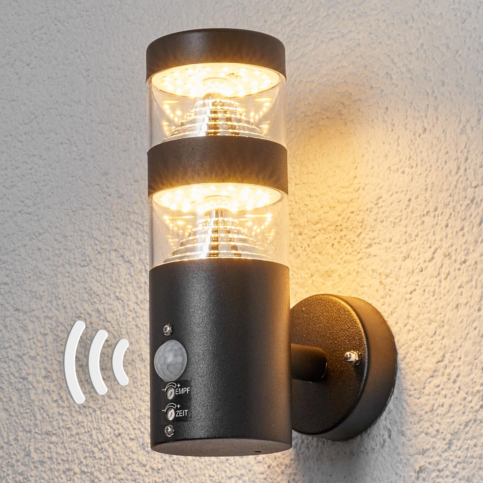 Utevegglampe Lanea med LED-lys og sensor