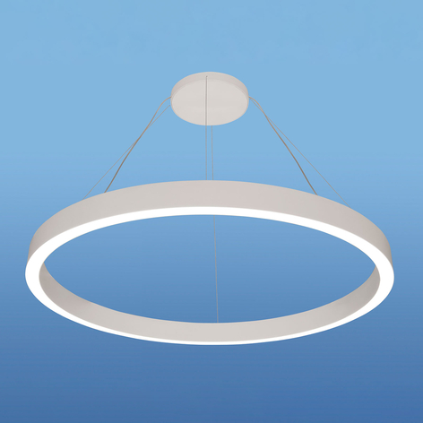 Suspension LED IRIS08-ID, Ø80 cm, blanche, 4 000 K