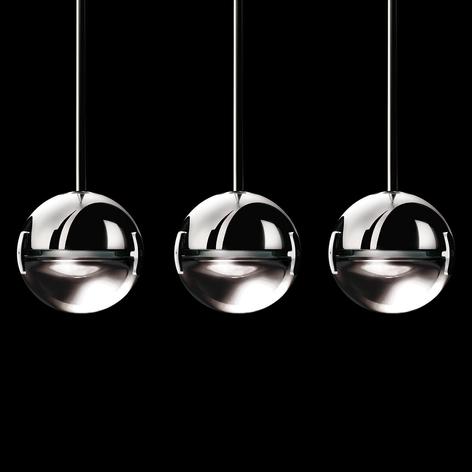 Stilfuld designer pendellampe Convivio 3 lyskilder