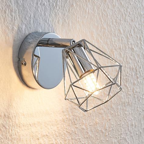 Lindby Giada LED-veggspot med bur-skjerm