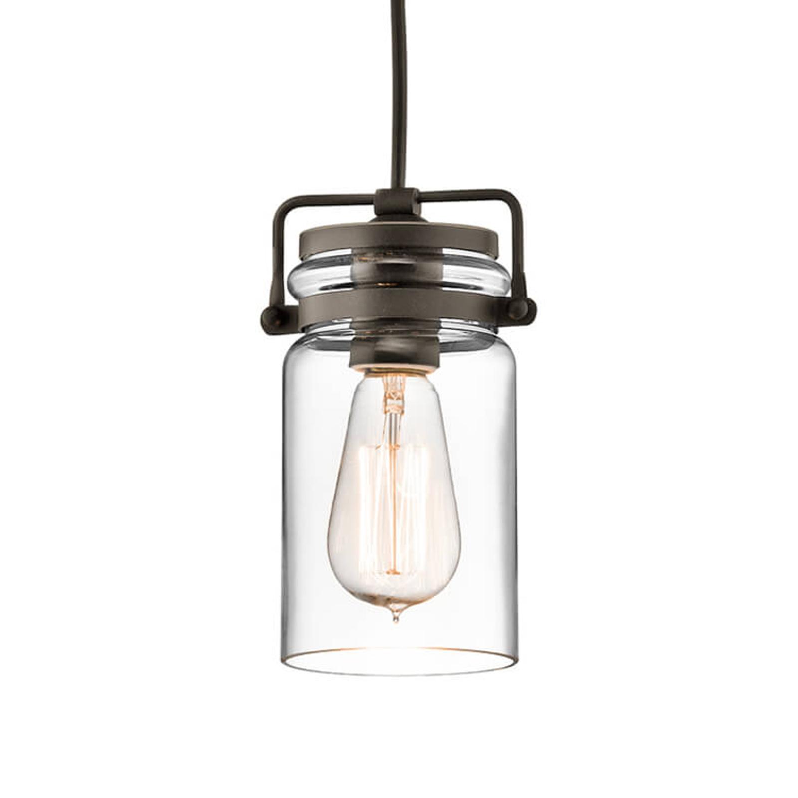Szklana lampa wisząca Brinley 1-punktowa