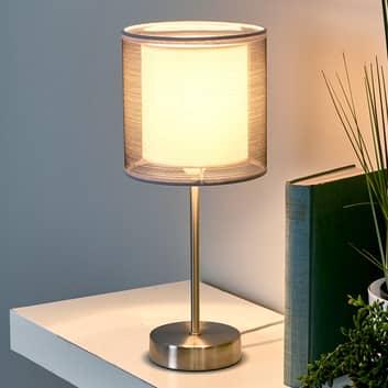 Stolní lampa Nica svnějším stínidlem šedé barvy