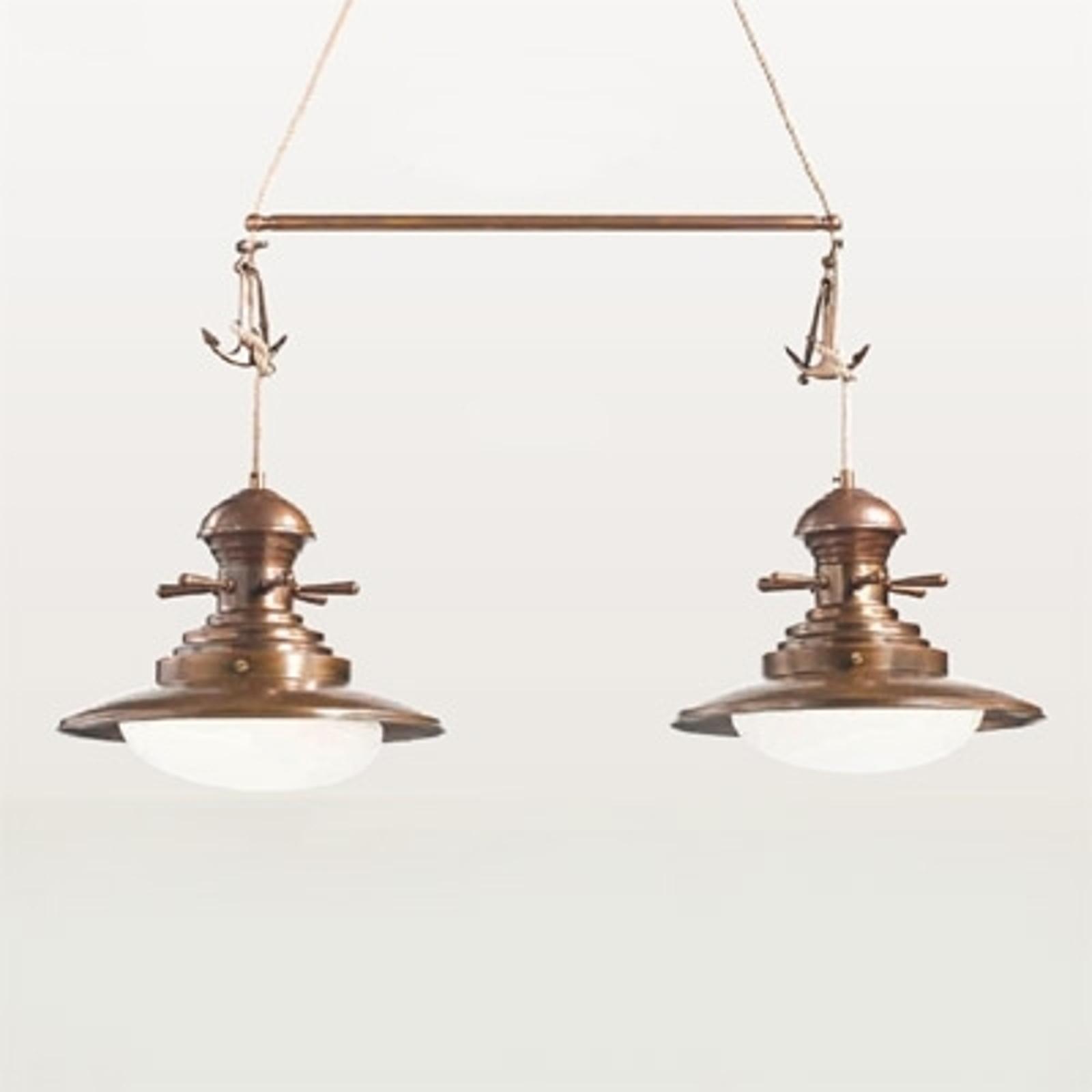 Lampa wisząca Baia 2-punktowa brązowana
