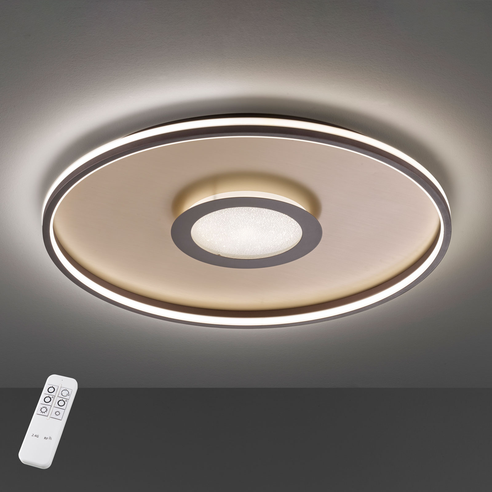 Lampa sufitowa LED Bug okrągła, rdza 81cm