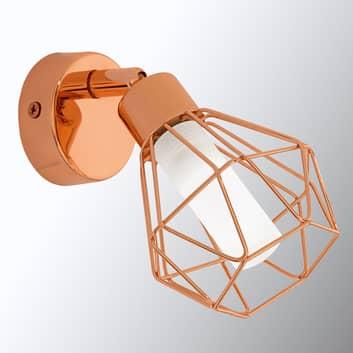 Lámpara de pared LED Zapata color cobre