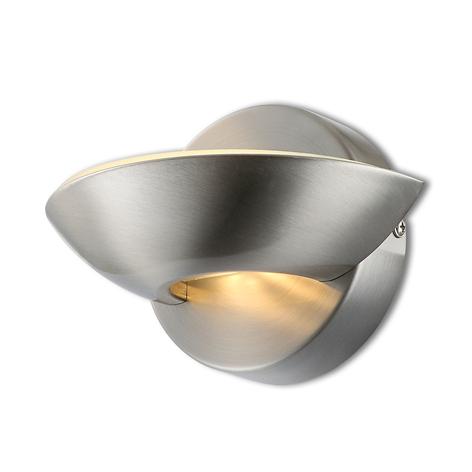 LED-Wandleuchte Cosimo, nickel matt
