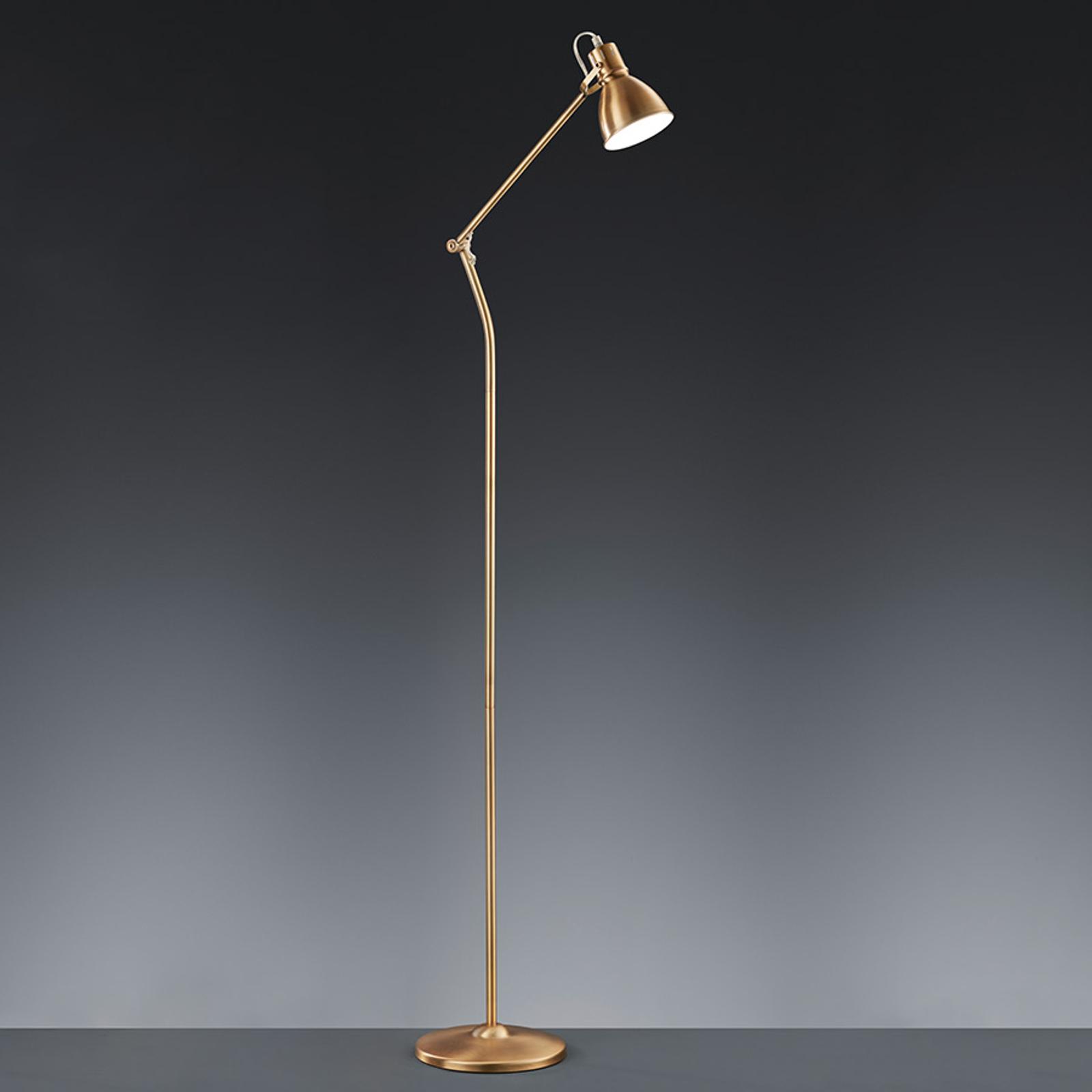 Lampa stojąca Keali - mosiądz antyczny