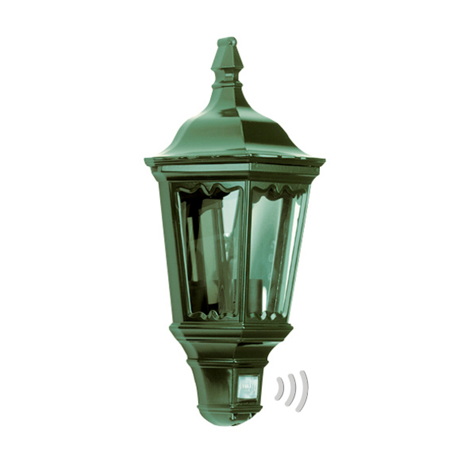 Praktische buitenwandlamp Ancona, groen