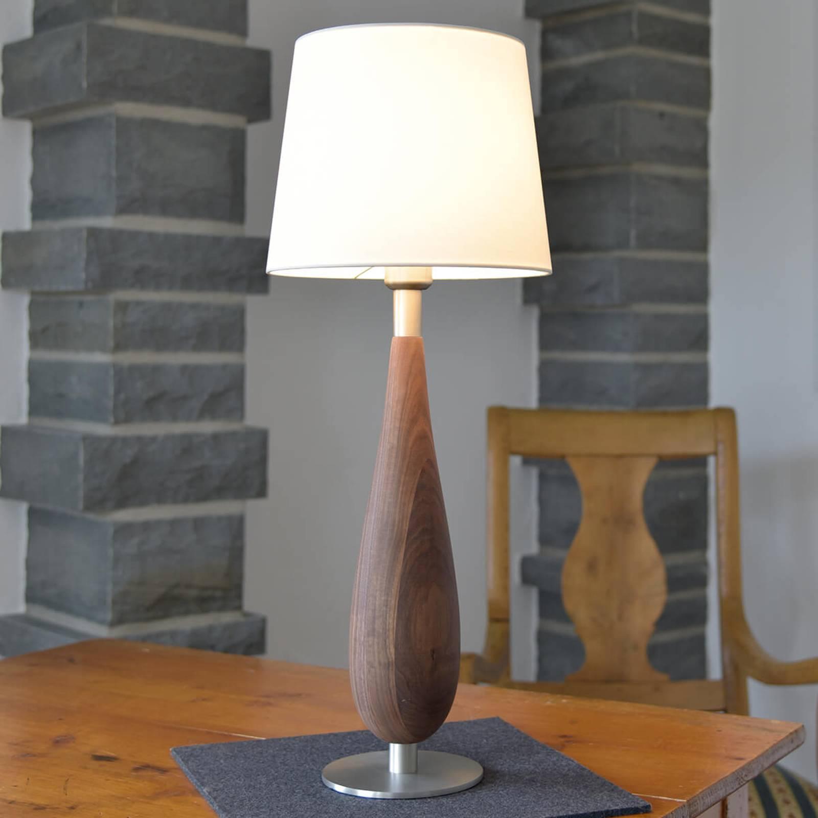 HerzBlut Lara lampe à poser avec noyer, 61cm