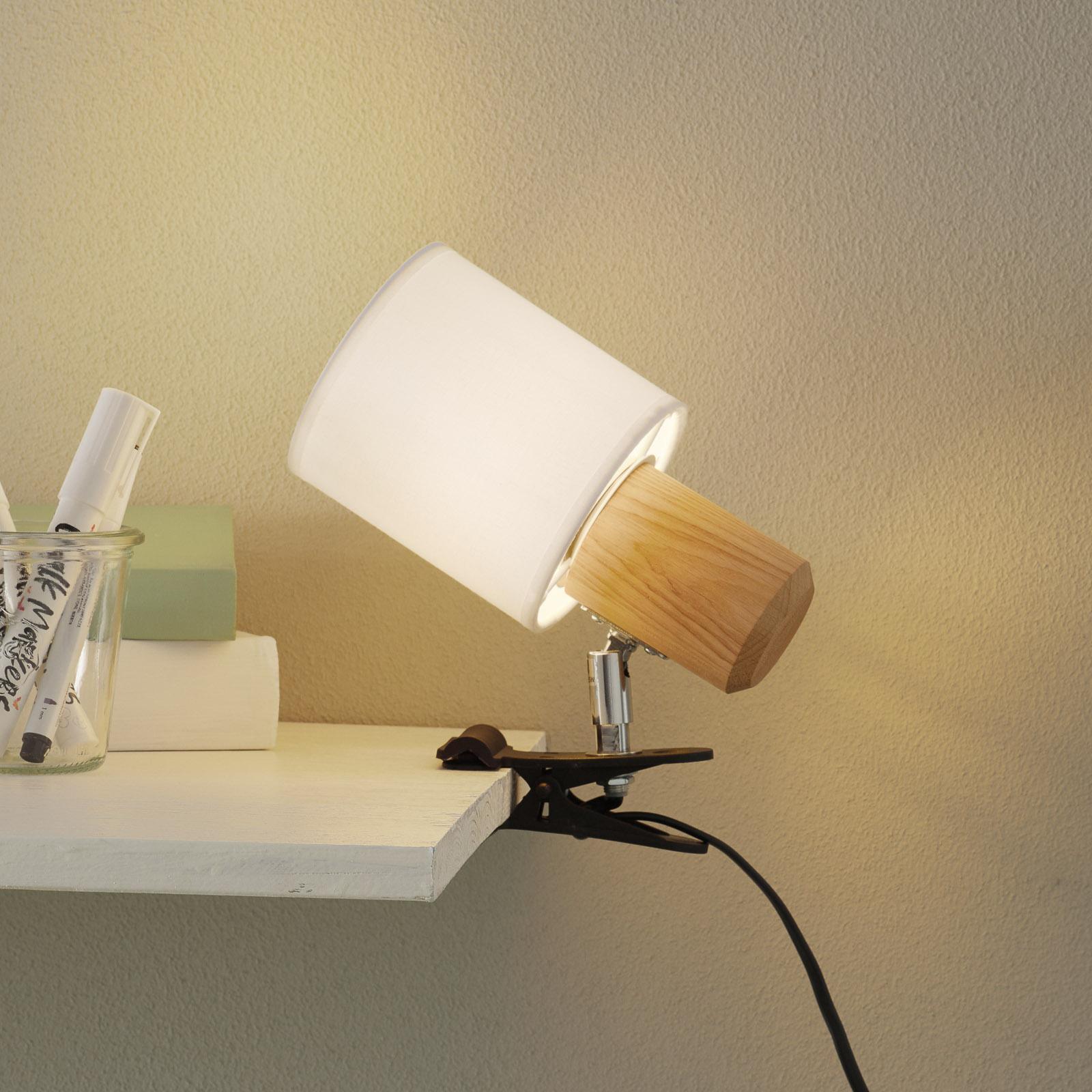 Lampe à pince Clampspots moderne abat-jour blanc