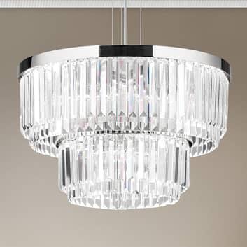 LED-Pendelleuchte Prism, rund, Ø 55 cm
