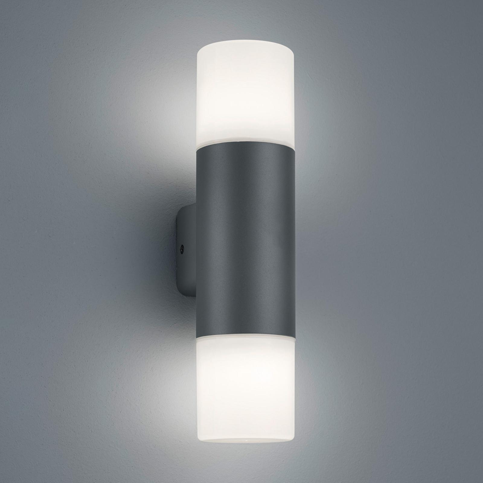Hoosic udendørs væglampe, 2 lyskilder, antracit